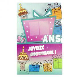 Carte Anniversaire Cadeau tous âges à stickers